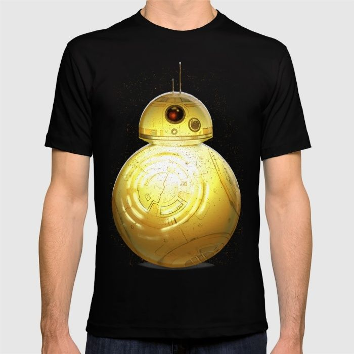 Golden BB8 3CPO T-shirt by Daniac Design on society6