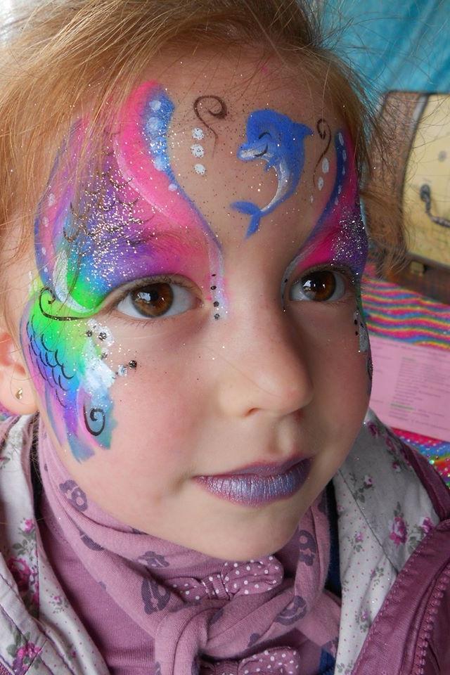 Mermaid face paint   Little Mermaid Part Ideas   Pinterest ...