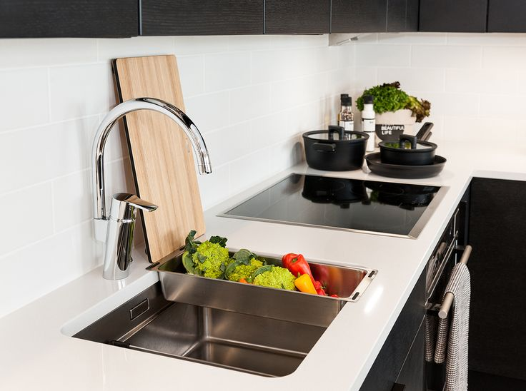 Oras Cubista kitchen faucet with a dishwasher valve