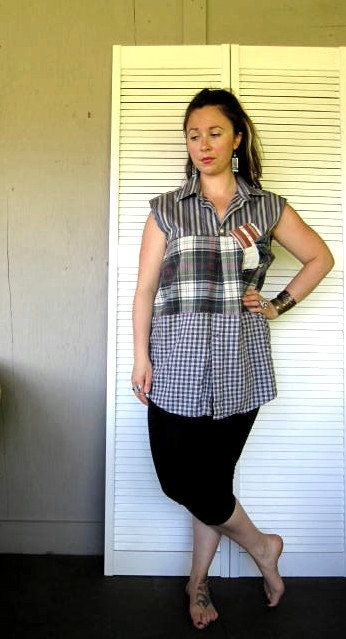 upcycled clothing Romantic Layering Shirt by lillienoradrygoods, $67.50