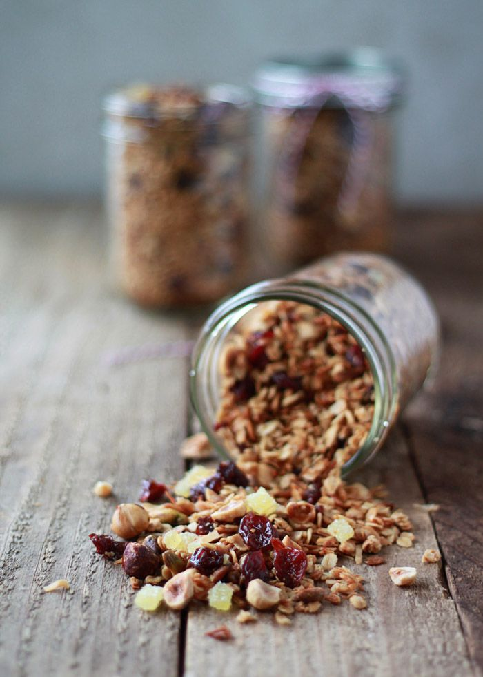 Hazelnut-Pistachio Granola with Cherries and Candied Ginger   Kitchen Treaty