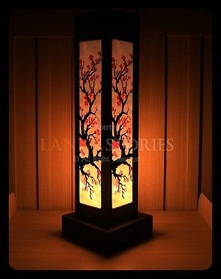 Lrb121 Japanese Cherry Blossom Table Lamp Asian Oriental
