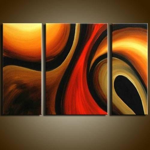 Cuadros Modernos Pintados Pinturas Sobre Lienzo Minimalistas - $ 430,00