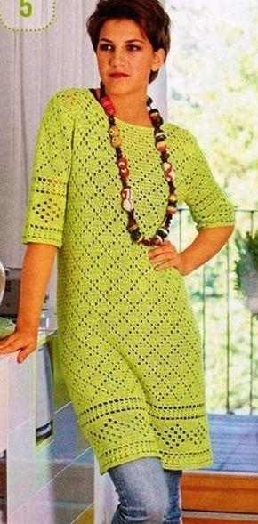 Materiales gráficos Gaby: Vestidos crochet