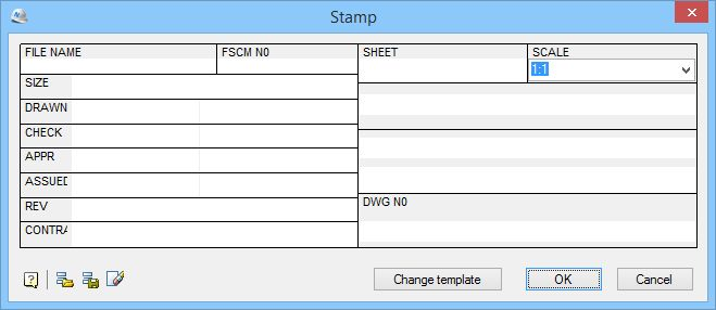 ISO Title Block definition with nanoCAD SPDS