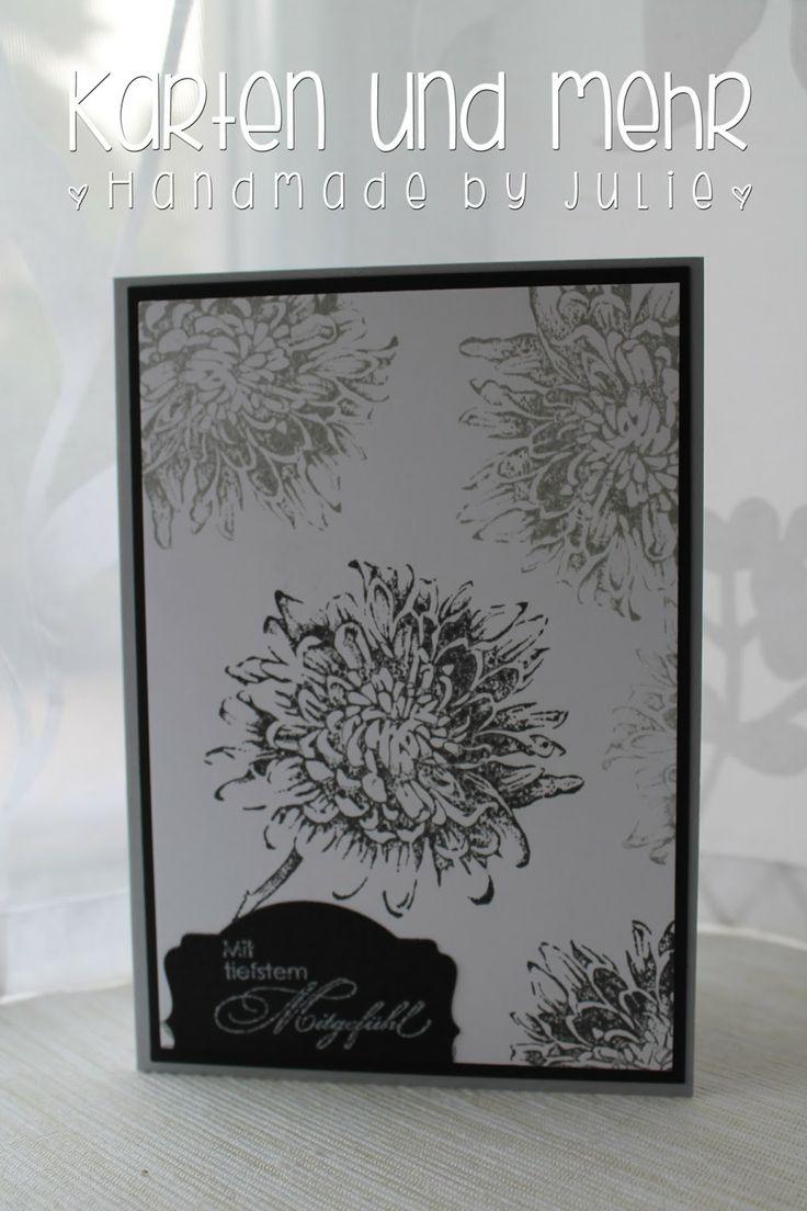 Trauerkarte, Stampin' Up!, Aus dem Garten der Freundschaft, Blooming with kidness, Mit tiefstem Mitgefühl