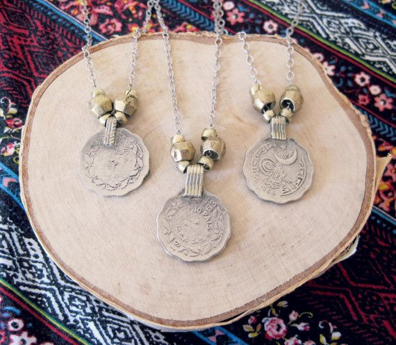 Hey, I found this really awesome Etsy listing at https://www.etsy.com/listing/245391798/silver-coin-necklace-silver-and-gold
