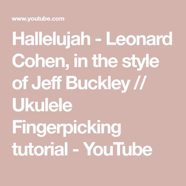 Hallelujah by Jeff Buckley  Ukulele Chords