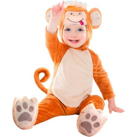 Monkey Infant Halloween Costume, Infant Boy's, Size: Small