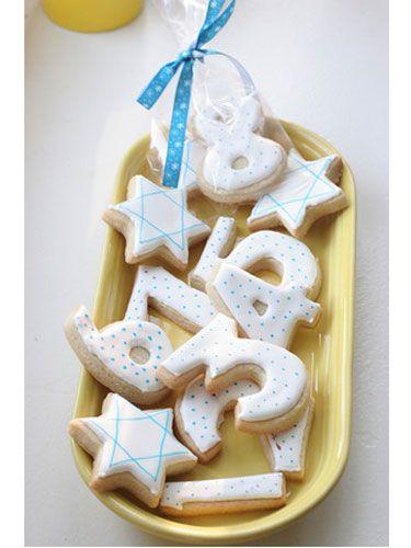 Hanukkah Cookies: Happy Hanukkah, Food, Crafts Recipes, Jewish Holidays, Chanukah, Hanukkah Cookies, Hanukkah Crafts, Number Cookies, Hanukkah Ideas