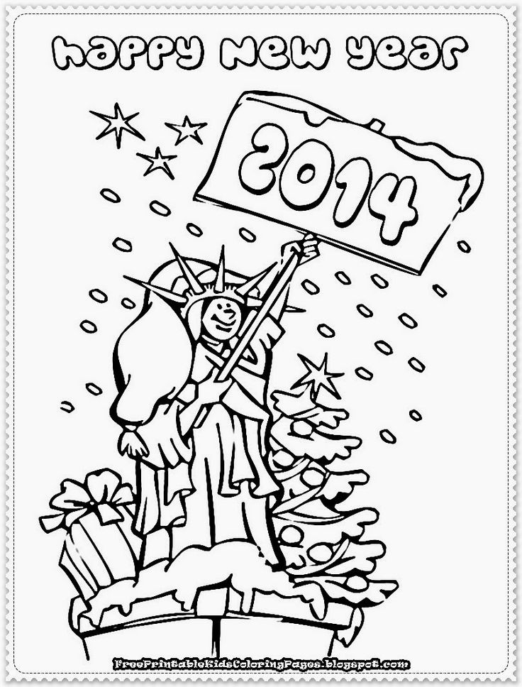 new year's coloring pages | happy new year printable coloring pages to print