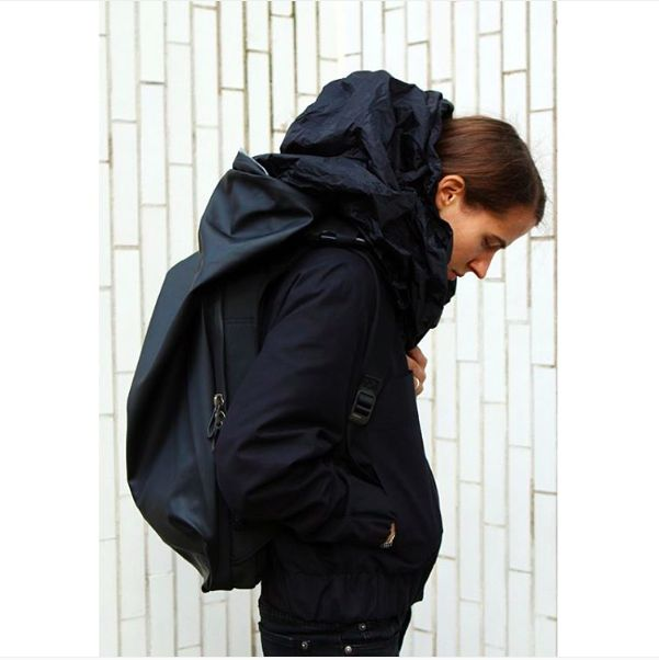 Deep in thought. The Nile rucksack from côte&ciel comes complete with an integrated hood – perfect for those pensive moments when you're in a world of your own. Image courtesy of @reedeshop via Instagram