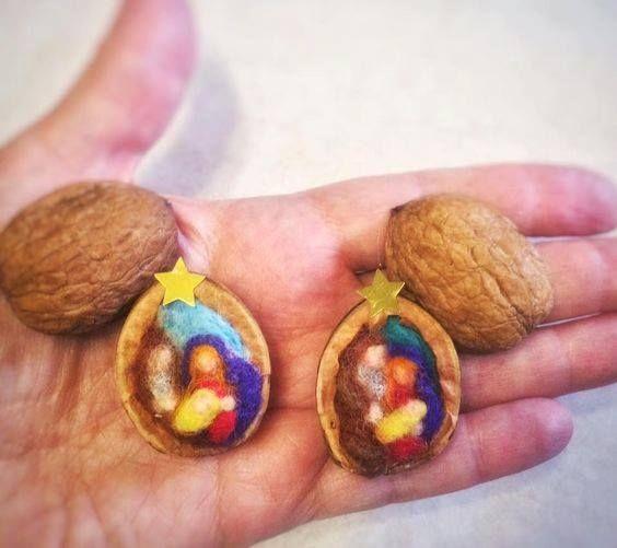 Gorgeous walnut manger scenes