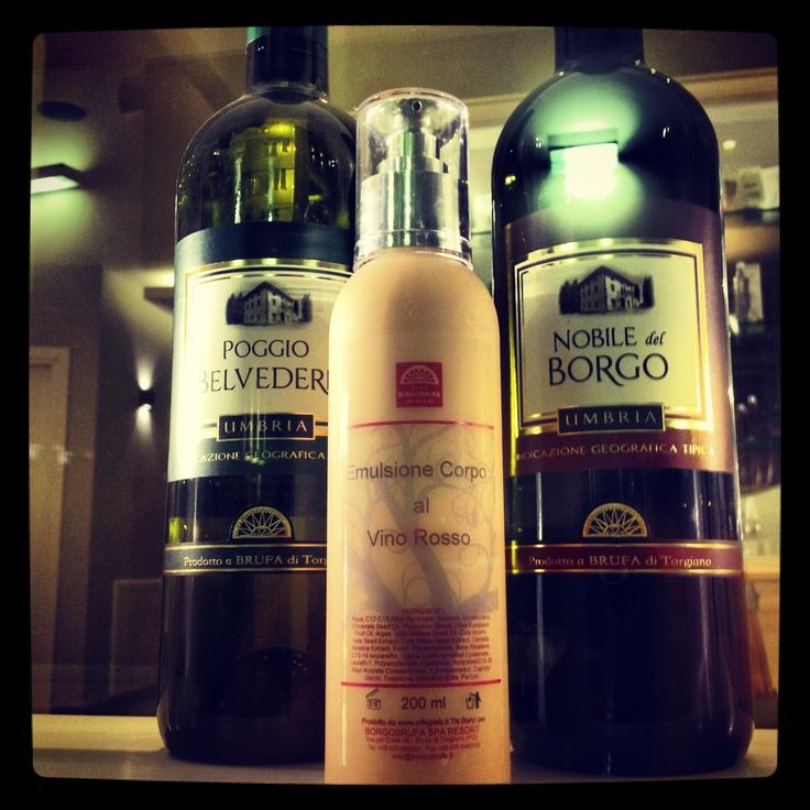 Emulsione #benessere Borgobrufa corpo #vino rosso
