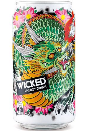 Wild Wicked Energy Drink #packaging PD