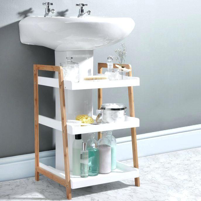 Pedestal Sink Cabinet Large Size Of Sink Storage Solutions Ideas