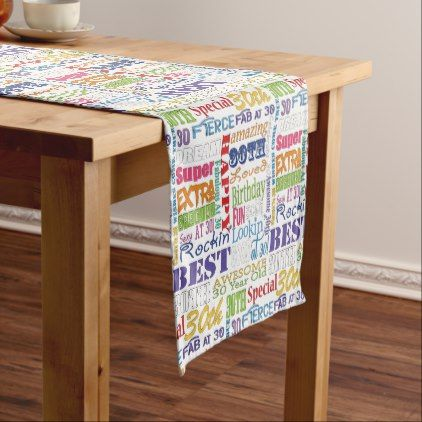 #Unique And Special 30th Birthday Party Gifts Short Table Runner - #giftidea #gift #present #idea #number #thirty #thirtieth #bday #birthday #30thbirthday #party #anniversary #30th