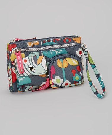 Take a look at this Gray Floral Wristlet by Lily Bloom on #zulily today! $14 !!