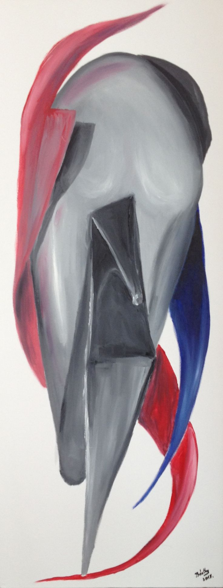 High heel; oil on 3D canvas. Available for sale.