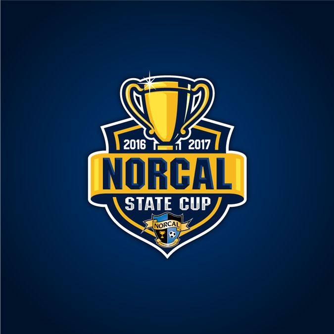 Create a striking logo for the NorCal Premier Soccer State Cup by struggle4ward