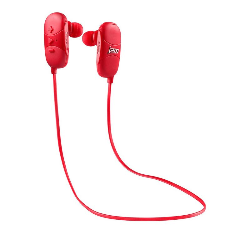 Hmdx Jam Transit Bluetooth Wireless Earbud Headphones, Red