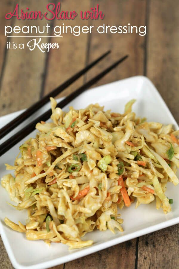 Asian Slaw - This easy coleslaw recipe has a delicious peanut ginger ...