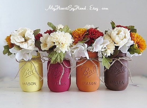 Best mason jar thanksgiving centerpieces ideas on