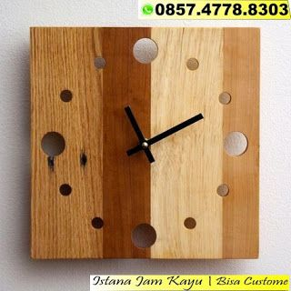 Jam Dinding Kayu Unik 46a1533104