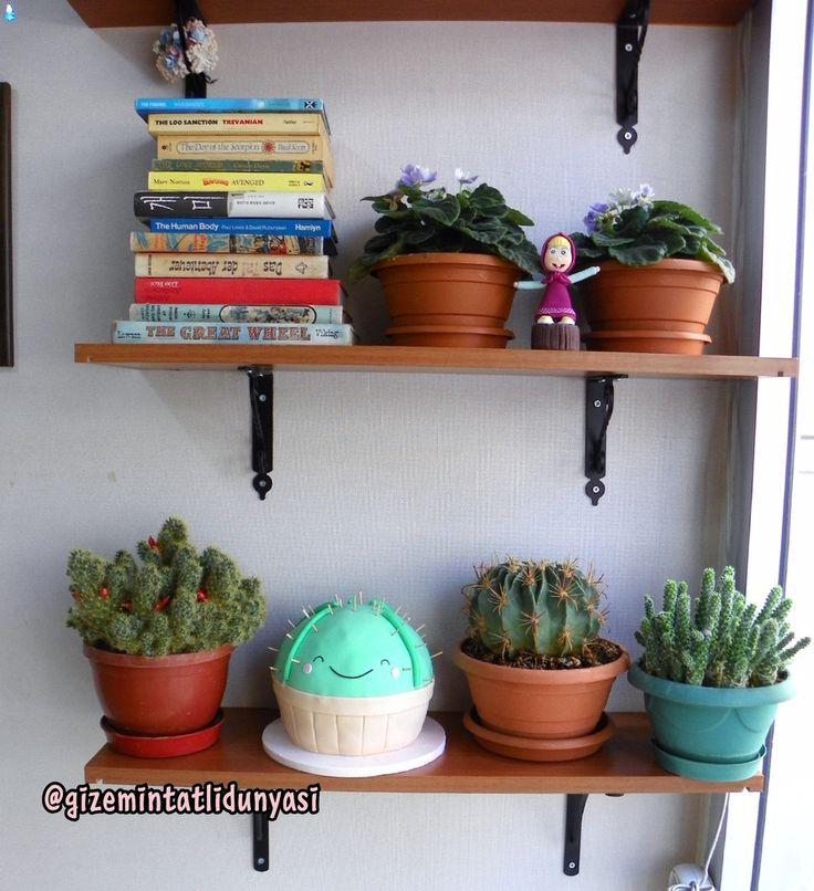 """168 Beğenme, 3 Yorum - Instagram'da Butik Pasta / Kurabiye🍪🍰 (@gizemintatlidunyasi): """"3. gün hala pasta olduğumu anlamadılar😂😂#cactuscake #cactuslove #kaktüspasta #3dcake #cactus"""""""