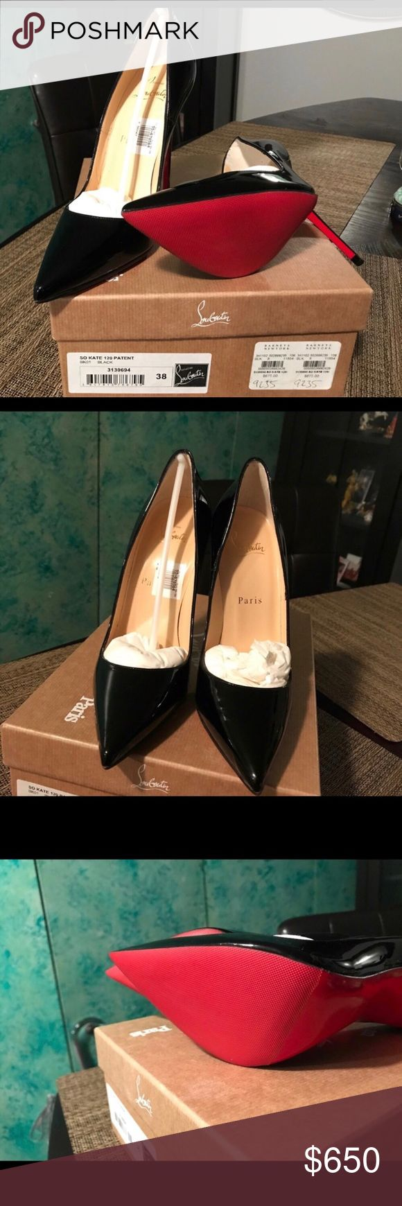 So Kate Christian Louboutin Brand New NEVER WORN AUTHENTIC with Christian Louboutin Sole protectors.. NO DAMAGE NO SCUFFS NO SCRATCHES..... Christian Louboutin Shoes Heels