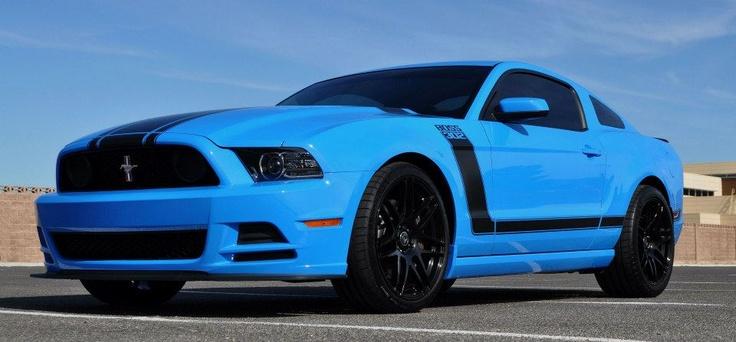 Grabber blue 13 boss 302 w f14 wheels nice
