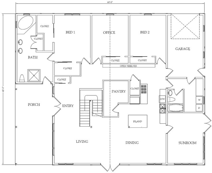 Simple House Floor Plans With Measurements 39 best 2 bedroom plans images on pinterest | small house plans