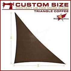 THIS IS THE ONE I NEED TO ORDER......Right Triangle Sun Shade Sail UV Top Cover Patio Pool Awning Canopy Beige / Blue