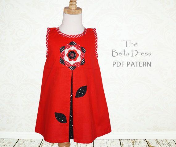 Girls dress sewing pattern PDF Kids by MyChildhoodTreasures