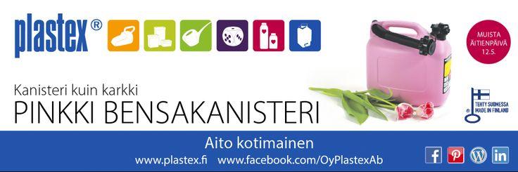 Plastexin mainos kesä 14 pinkki bensakanisteri.