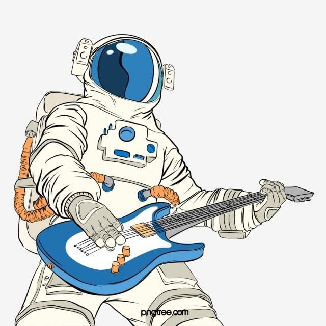 Astronaut Illustration Pop Spoof Playing Guitar Illustration Elements Astronaut Clipart Astronaut Play The Guitar Png Transparent Clipart Image And Psd File Astronaut Illustration Guitar Illustration Astronaut Art Illustration