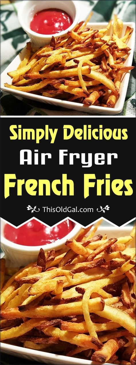 You will never use your deep fryer again, once you have tasted these simple Air Fryer French Fries, made with only a drop of oil. via @thisoldgalcooks