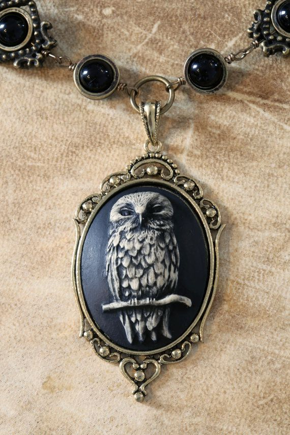 Neo Victorian Goth Jewelry Necklace by CatherinetteRings on Etsy