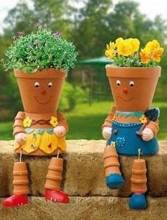 Diy A Cute And Quirky Flowerpot Person For Your Garden Flower Pots Terracotta Flower Pots Flower Pot Crafts