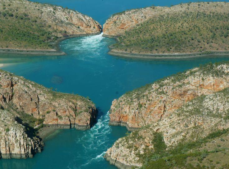 Arial View Horizontal Falls, Western Australia