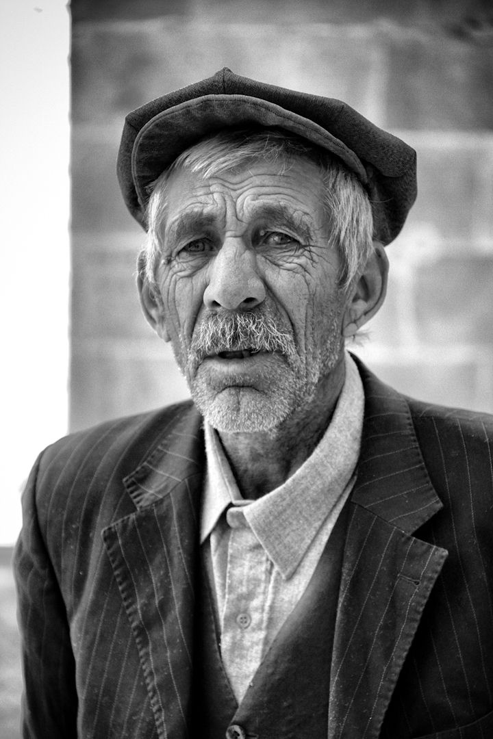 Old man from Midyat, Turkey.