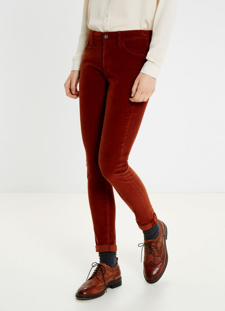 PANTALÓN PITILLO DE PANA ROJO 'REGENT' | Mujer | Pepe Jeans London | Pepe Jeans London