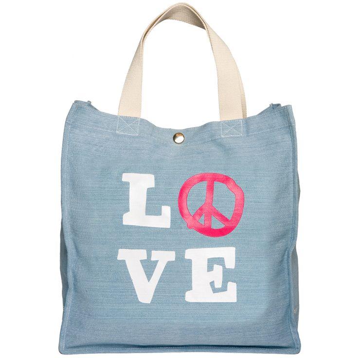 Love Bag Peace Bag Denim Bag Happy Days !