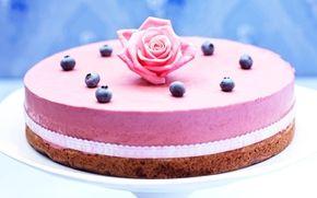 Brownie-blueberry cake