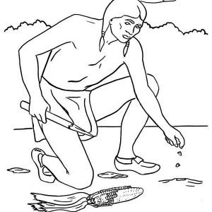 Cherokee Canoes Coloring Pages
