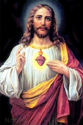 Imagen clásica del Sagrado corazón de Jesús