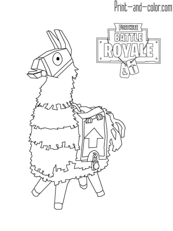 fortnite battle royale coloring page lama