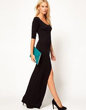 Enlarge Love Maxi Dress with Side SplitBlack Maxis, Maxi Dresses, 4925, Asos, Black Dresses, Fall, 49 25, Maxis Dresses, Side Split