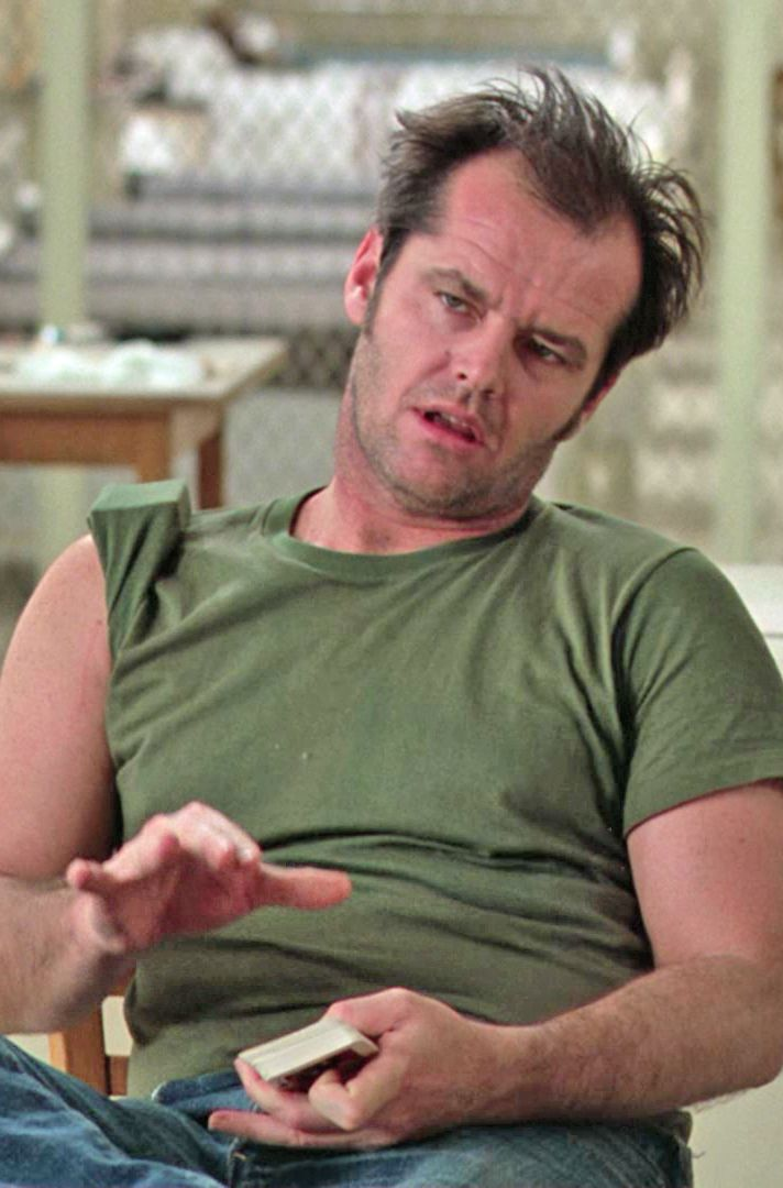 Jack Nicholson in One Flew Over The Cuckoo's Nest