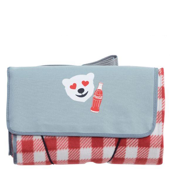 Coca-Cola Polar Bear Emoji Blanket Tote